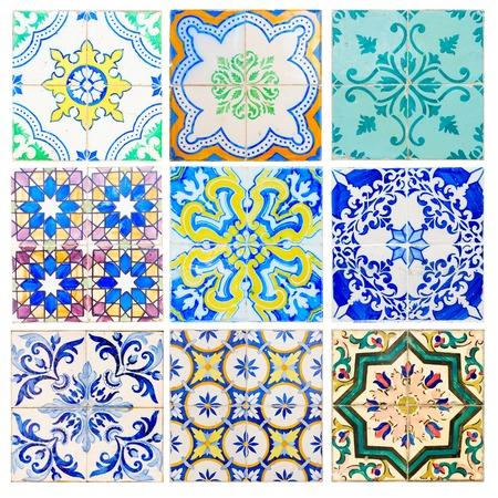 grabado antiguo: azulejos antiguos de Sintra