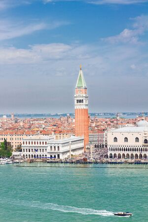 san marco: famous San Marco square waterfront at summer day, Venice, Italy Stock Photo