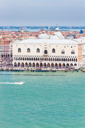 doges: Palace of Doges  waterfront at summer day, Venice, Italy
