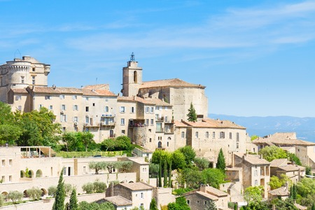 gordes: Gordes, famouse old town fortress of Provence, France