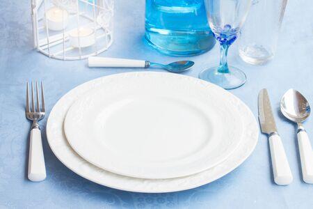 utencils: Tableware - set of plates, cups and utencils