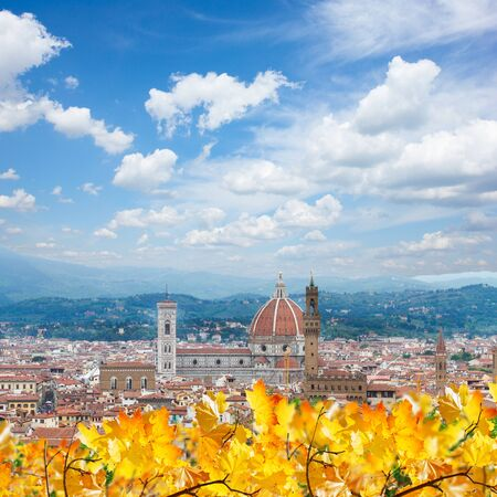 fiore: cathedral church Santa Maria del Fiore at fall day, Florence, Italy Stock Photo