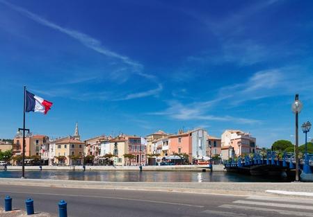 france: old harbor with boats Martigues, Provence, Cote dAzur, France