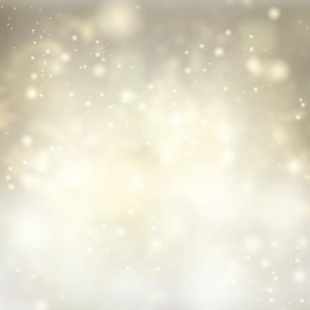 雪と明るい輝きクリスマス銀の背景
