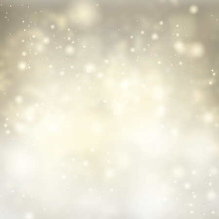 golden light: chrismas silver  background with snow and bright  sparkles