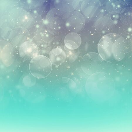 chrismas background: chrismas turquoise  green background with bright  sparkles and bokeh Stock Photo
