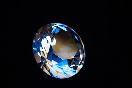 black velvet: One big diamond on black velvet background
