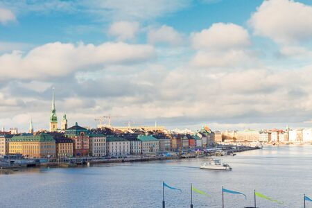 stan: cityscape of old town Gamla Stan in Stockholm, Sweden Stock Photo