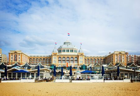 scheveningen: Kurhaus  in Scheveningen of Hague, Holland, retro toned
