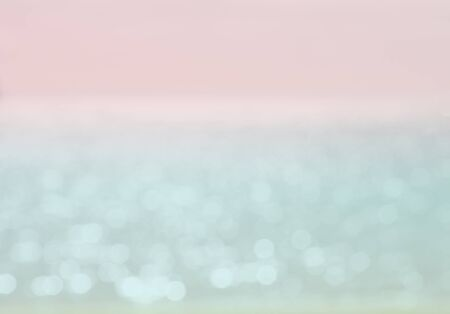 gleaming: Summer sea gleaming defocused background, toned in blue and pink
