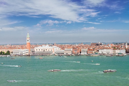 san marco: skyline of Venice - famous San Marco square waterfront, Venice, Italy