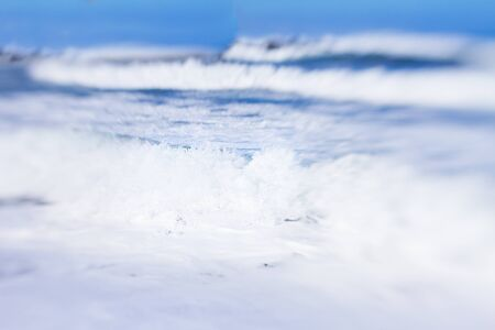 shallow  focus: Seascape with baking wave motion, shallow focus