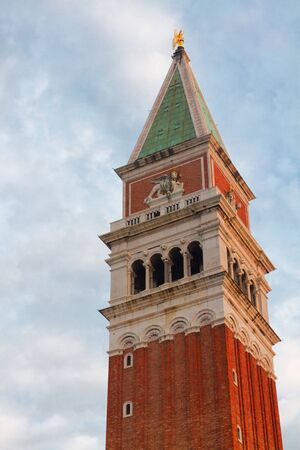 san marco: San Marco bell tower close up, Venice, Italy