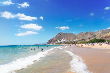 coastline of of Las Teresitas beach, Tenerife