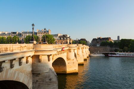 Pont Neuf and Seine at sunny summer day, Paris, France Stock Photo
