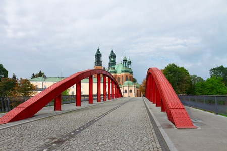 wielkopolskie: Jordan Bridge and old cathedral church , Poznan, Poland