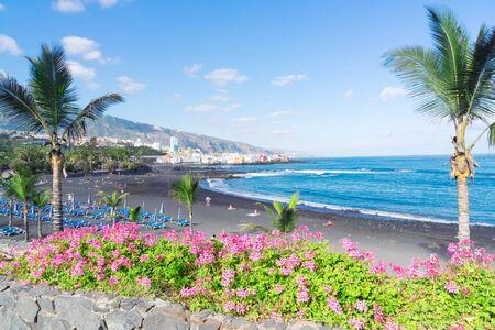famous beach garden Playa Jardin, Puerto de la Cruz de Tenerife, Spain