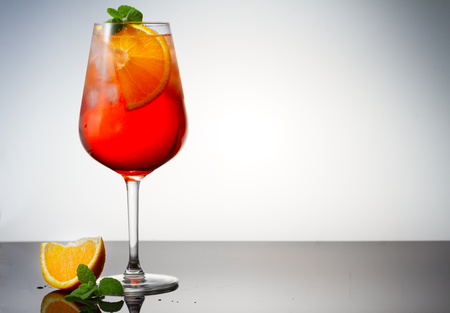 Glass of spritz coctail on table with copy space Reklamní fotografie