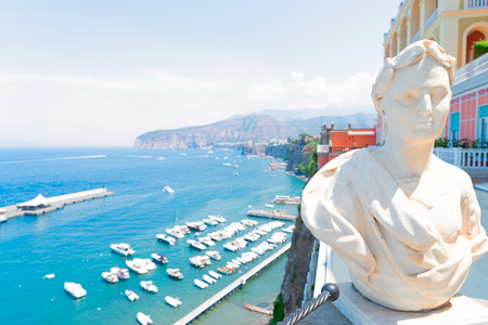 beautiful details of Sorrento at summer, southern Italy Stock Photo