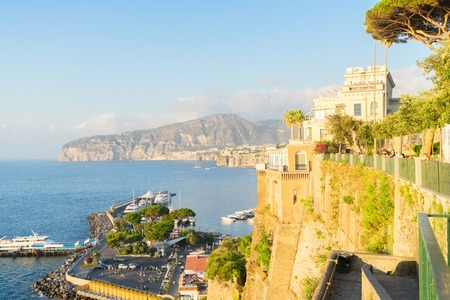 harbour and beach of Sorrento, southern Italy Banque d'images - 103600056