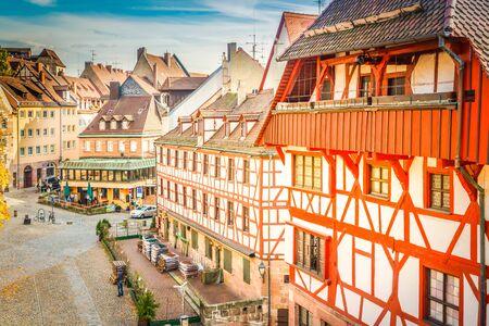 Tiergartnertor in old town of Nuremberg, Germany, retro toned