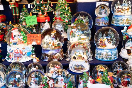 Christmas market kiosk details - traditional austrian festive snowballs
