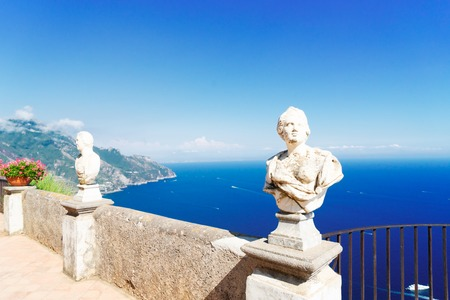 Beautiful details of Ravello village, Amalfi coast of Italy at summer day