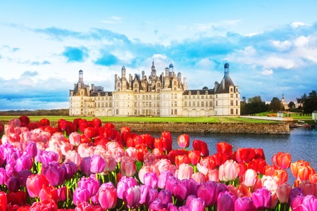 Chambord chateau at autumn day, Pays-de-la-Loire, France
