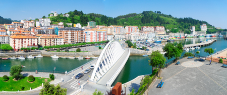 panorama of Ondarroa town, Pais Vasco Spain