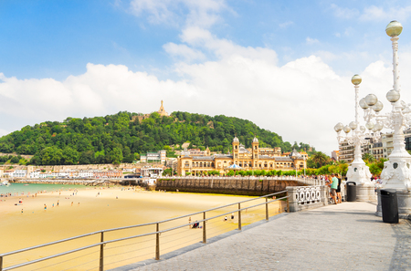 San Sebastian beach Concha with embankment, Pais Vasco, Spain