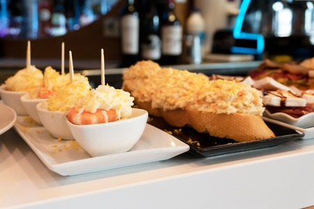 Pinchos, trditional spanish basque snacs dish