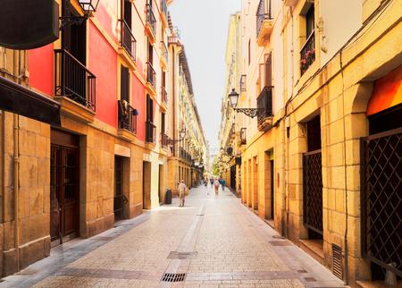 view of downtown of San Sebastian, Pais Vasco, Spain