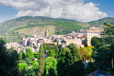 view of Tivoli small town at summer, Italy