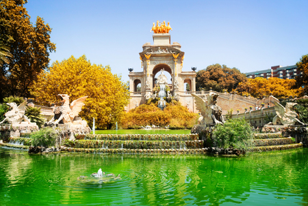 Park de la Ciutadella of Barcelona, Spain at fall