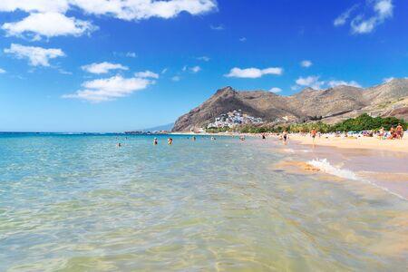 sumer coastline of of Las Teresitas beach, Tenerife