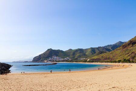 tropical coastline of of Las Teresitas beach at summer, Tenerife