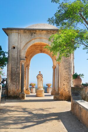 beautiful details of Ravello village at summer, Amalfi coast of Italy
