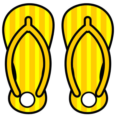 icon of a cartoon summer pair of sandals