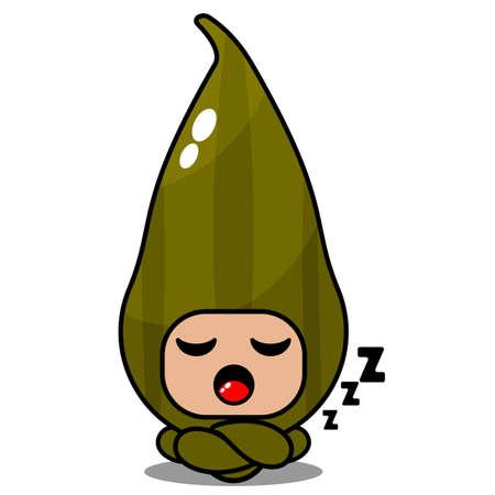simple cute cardamom spice mascot costume vector cartoon character lying down Vektorgrafik