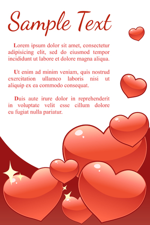 Valentines day vector background with hearts Stock Illustratie