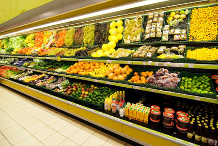 Fruit and vegetable section in a shop Stock Photo - 2187041