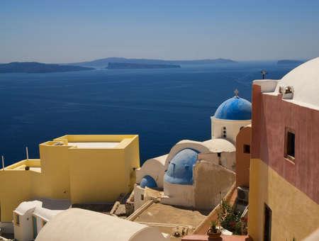 Beautiful view of Santorini Island (Greece) photo
