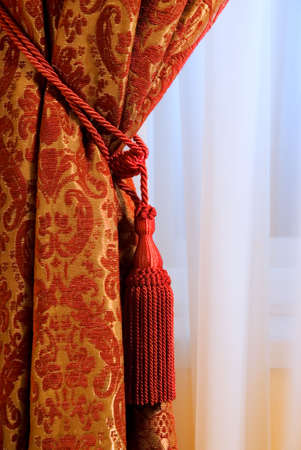 yellow tassel: Luxury curtain