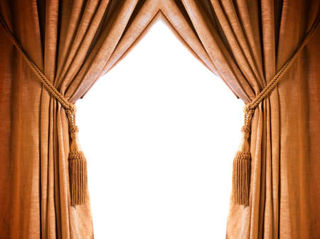 Luxury curtain with a copy-space in the middle Stock Photo - 2222078