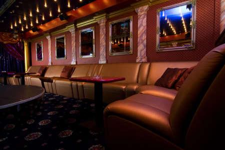 Luxe nacht club binnenkant Stockfoto
