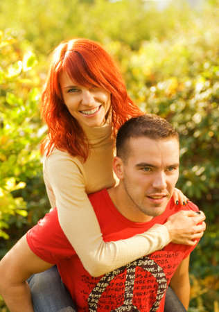 Beautiful young couple in love photo