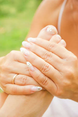 Foot massage (shallow DoF) photo