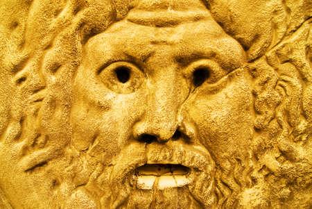 zeus: Golden sculpture of Zeus
