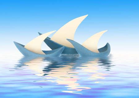 Three sailing vessels photo