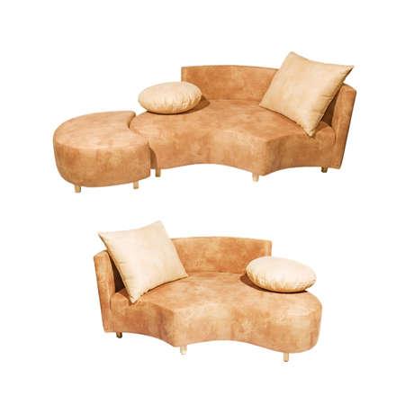 Sofa set isolated on white background Stock Photo - 2271971